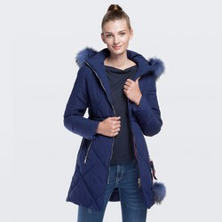 Dámská bunda, tmavě modrá, 87-9N-501-7-XL, Obrázek 1