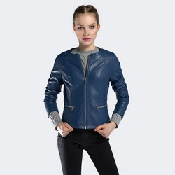 Dámská bunda, tmavě modrá, 90-9P-101-7-3XL, Obrázek 1
