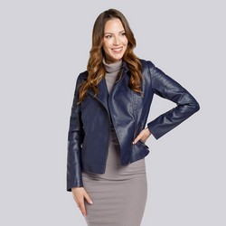 Dámská bunda, tmavě modrá, 93-9P-110-N-M, Obrázek 1