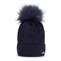 Dámská čepice, tmavě modrá, 93-HF-003-7, Obrázek 1