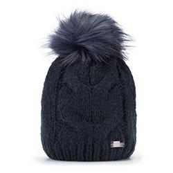 Dámská čepice, tmavě modrá, 93-HF-009-7, Obrázek 1