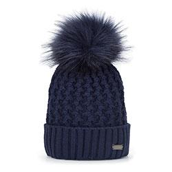Dámská čepice, tmavě modrá, 93-HF-012-7, Obrázek 1