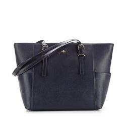 Dámská kabelka, tmavě modrá, 85-4E-456-7, Obrázek 1