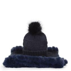 Dámská zimní sada, tmavě modrá, 91-SF-003-7, Obrázek 1
