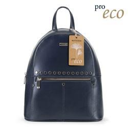 Dámský batoh z ekologické kůže, tmavě modrá, 91-4Y-251-7, Obrázek 1