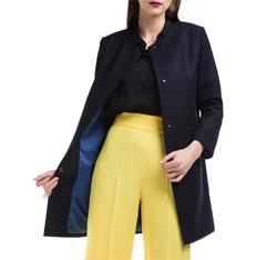 Dámský kabát, tmavě modrá, 84-9W-101-7-2X, Obrázek 1
