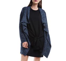 Dámský kabát, tmavě modrá, 84-9W-105-7-M, Obrázek 1
