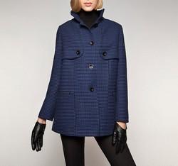 Dámský kabát, tmavě modrá, 85-9W-102-7-M, Obrázek 1