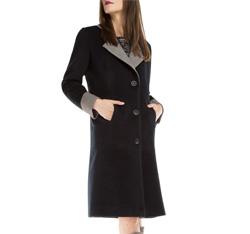 Dámský kabát, tmavě modrá, 85-9W-105-7-M, Obrázek 1