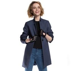 Dámský kabát, tmavě modrá, 86-9W-111-7-2XL, Obrázek 1