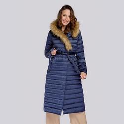 Dámský kabát, tmavě modrá, 93-9D-408-N-2XL, Obrázek 1