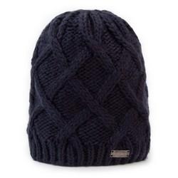Dámská čepice, tmavě modrá, 89-HF-019-N, Obrázek 1