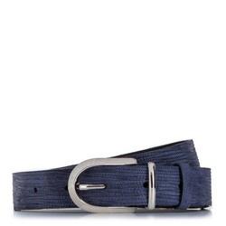 Dámský opasek, tmavě modrá, 92-8D-310-7-XL, Obrázek 1
