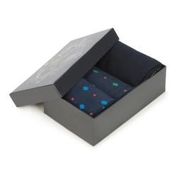 Sada pánských ponožek, tmavě modrá, 90-SK-001-X3-40/42, Obrázek 1