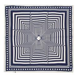 Hedvábný šátek, tmavě modrá, 93-7D-S01-16, Obrázek 1