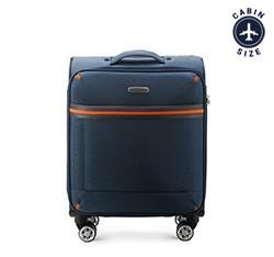 Kabinový cestovní kufr, tmavě modrá, 56-3S-491-90, Obrázek 1