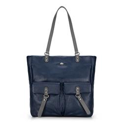 Dámská kabelka, tmavě modrá, 89-4E-355-7, Obrázek 1