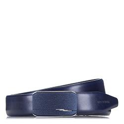 Pánský opasek, tmavě modrá, 87-8M-319-7-12, Obrázek 1