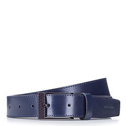 Pánský opasek, tmavě modrá, 87-8M-324-7-90, Obrázek 1
