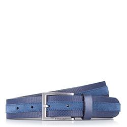 Pánský opasek, tmavě modrá, 87-8M-325-7-12, Obrázek 1