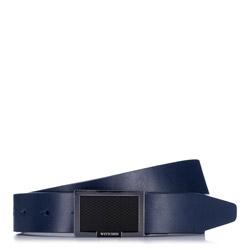 Pánský opasek, tmavě modrá, 88-8M-301-7-11, Obrázek 1