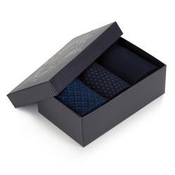 Sada pánských ponožek, tmavě modrá, 90-SK-003-X4-40/42, Obrázek 1