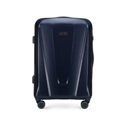 Střední kufr, tmavě modrá, 56-3P-122-90, Obrázek 1