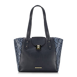 Dámská kabelka, tmavě modrá, 89-4Y-402-7, Obrázek 1