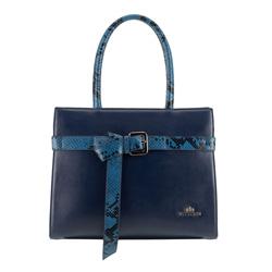 Dámská kabelka, tmavě modrá, 89-4E-363-7, Obrázek 1