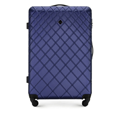 Velký kufr, tmavě modrá, 56-3A-553-90, Obrázek 1