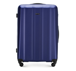 Velký kufr, tmavě modrá, 56-3P-113-90, Obrázek 1