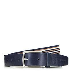 Panský opasek, tmavě modro-béžová, 88-8M-306-X1-90, Obrázek 1