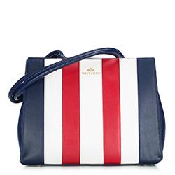 Dámská kabelka, tmavě modro-bílá, 88-4E-366-X1, Obrázek 1