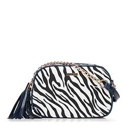 Dámská kabelka, tmavě modro-bílá, 89-4Y-300-X3, Obrázek 1