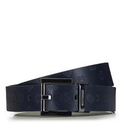 Dámsky opasek, tmavě modro-černá, 91-8D-301-7-S, Obrázek 1