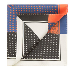 Kapesník, tmavě modro-černá, 85-7P-X01-X14, Obrázek 1