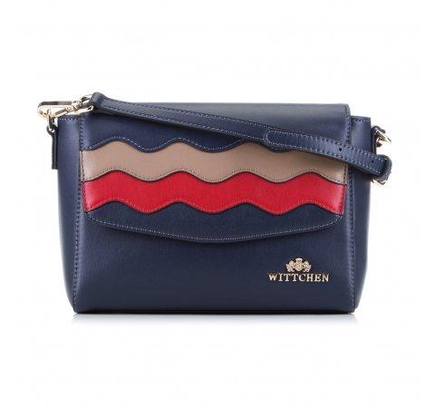 Dámská kabelka, tmavě modro-červená, 89-4E-500-7, Obrázek 1