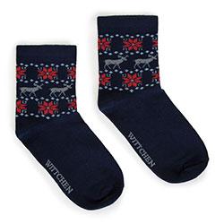 Dámské ponožky, tmavě modro-červená, 91-SK-021-X1-37/39, Obrázek 1
