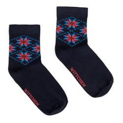 Dámské ponožky, tmavě modro-červená, 91-SK-023-X1-35/37, Obrázek 1