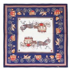Dámský šátek, tmavě modro-červená, 89-7D-S14-X14, Obrázek 1