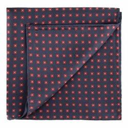 Kapesníček do saka, tmavě modro-červená, 89-7P-001-X3, Obrázek 1