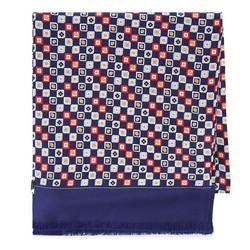 Pánská hedvábná šála, tmavě modro-červená, 93-7M-S41-2, Obrázek 1