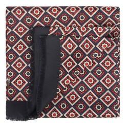 Pánská šála, tmavě modro-červená, 90-7M-S40-X3, Obrázek 1