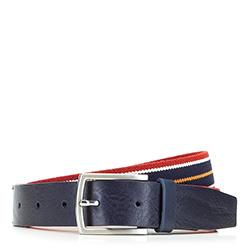 Pánský opasek, tmavě modro-červená, 88-8M-306-X2-11, Obrázek 1