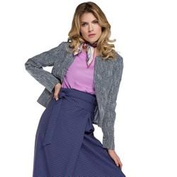 Dámské sako, tmavě modro-modrá, 86-9W-103-7-S, Obrázek 1
