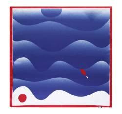 Hedvábný šátek, tmavě modro-modrá, 93-7D-S01-50, Obrázek 1