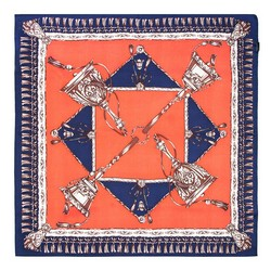 Dámský šátek, tmavě modro-oranžová, 89-7D-S14-X6, Obrázek 1