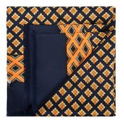 Pánský šátek, tmavě modro-oranžová, 88-7M-S40-X1, Obrázek 1