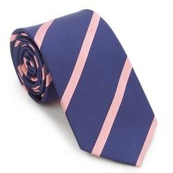 Kravata, tmavě modro-růžová, 87-7K-002-X5, Obrázek 1