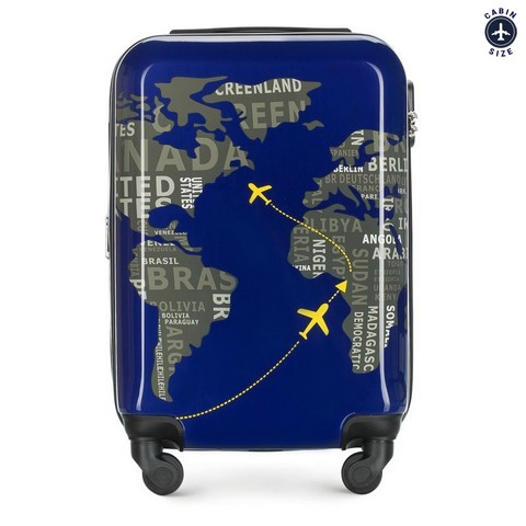 Kabinové zavazadlo, tmavě modro-šedá, 56-3A-461-9C, Obrázek 1